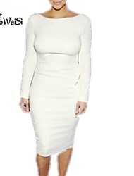 Nuo wei si ® Women's Sexy Backless Long Sleeve Dresses