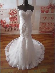 Trumpet/Mermaid Court Train Wedding Dress -Sweetheart Lace