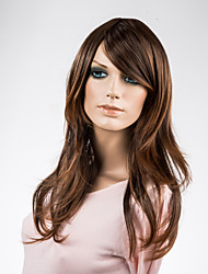 Capless Lady's Long Straight Synthetic Wig