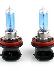 2pcs H8 100W Low Beam 6000K Pure White Halogen Headlamp Headlight Bulbs