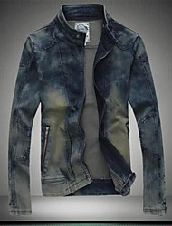 Men's Korean Fashion Slim Denim Jacket (Cotton/Polyester)