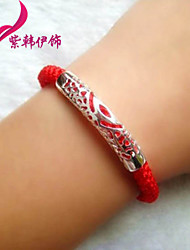 Hollow long pipeline road transport Red Rope Bracelet S871