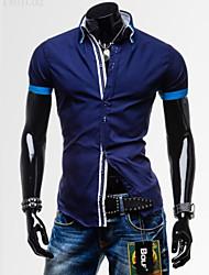 puro lazer algodão camisa de manga curta dos homens se encaixa perfeitamente k3a33