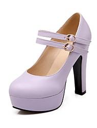 Scarpe Donna - Scarpe col tacco - Formale - Punta arrotondata - Quadrato - Finta pelle - Verde / Rosa / Viola / Beige