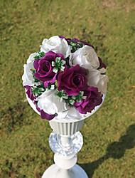 """9.8 paño de seda """"estilo rural bola púrpura flor de la simulación bola blanca flor decorativa"""