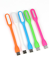 10pcs 1.2W Portable USB LED Light Flexible USB Powered LED Lamp for Laptops PC Notebooks(Random Color)