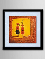 Oil Painting Abstract People Hand-Painted Canvas Solid Wood Frame Frameless Paintings
