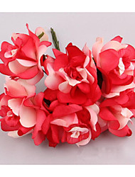 5CM/72PCS Artificial Paper Large Roses Bouquet,Diy Scrapbooking Accessories,Wedding Garland,Candy Box Decorations