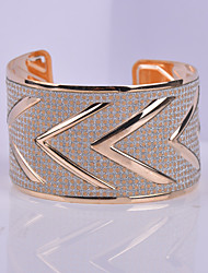D Exceed Women's Bracelet Zinc Alloy Gold Plated Arrow Design Wide Bracelet Jewelry Personality Mix Color Cuff Bangles