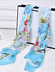 Lady's Fashion Peony Chiffon Scarves Shawls(Assorted Color)