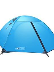 zorro plateado exterior 3people doble de aviación capa carpa varilla de aluminio para ir de excursión con mochila senderismo turístico pesca