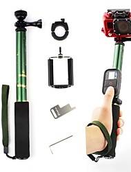 Comouflage Green Extendable Monopod with Mount Adapter for GoPro and Cell Phone