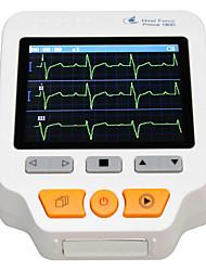 tela colorida ecg monitor cardíaco portátil peito eletrocardiógrafo mão membro eletrocardiograma com eletrodo cabo adaptador usb pad