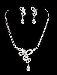 Women's Cubic Zirconia/Alloy Jewelry Set