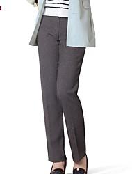 Pantalons pour Femmes  ( Spandex/Polyester/Rayonne ) Droit (Straight)  -  Moyen  -  Micro-élastique