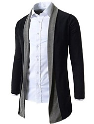 Men's Occasion Pattern Sleeve Length Cardigan