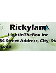 Personalized Product Labels / Address Labels Green Pattern Of Film Paper