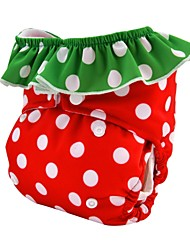 Washable Reusable Adjustable Baby Cloth Diaper Double Gusset Nappy for Girls