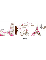 Romantic World Architecture Eiffel Tower PVC Wall Stickers