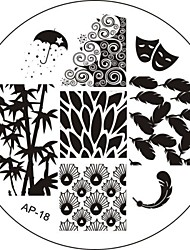 Nail Art Stamp Stamping Image Template Plate AP Series NO.18
