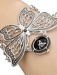 Women's Ladies Royal Fashion Black Butterfly Chain Band Watch Casual Elegant Bracelet Dress Watches