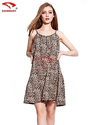 Women's Vintage/Sexy/Beach/Print/Cute/Plus Sizes Micro-elastic Sleeveless Above Knee Dress (Cotton)