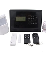 LCD IOS/Android Touch Keys GSM Alarm, GSM Home Alarm, Wireless GSM Alarm  M2E Black