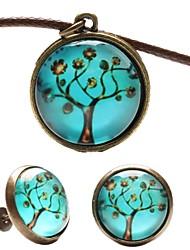 Fashion Peace Tree Shape(Includes Necklace&Earrings)Jewelry Set