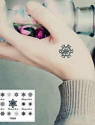 Sexy Personality Snow Winter Snow Tattoo Stickers Temporary Tattoos(1 pc)