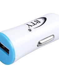 BTY M606 1.2A USB Car Cigarette Lighter Power Adapter - White + Blue (12~24V)