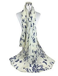 châles polyester foulards papillon d'impression élégantes (plus de couleurs)