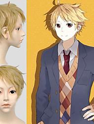 Angelaicos Men Kyōkai No Kanata Akihito Kanbara Boys Layered Short Blonde Anime Halloween Party Cosplay Full Wigs
