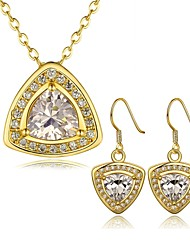 Gold Plated Fashion Jewelry Sets Necklace Earrings