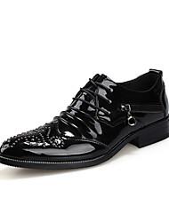 Oxfords ( Cuero , Negro/Rojo Zapatos de hombre