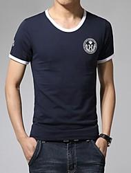 mannen sportieve effen kleur t-shirt