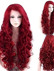 Fashion Red Wave High Quality Synthetic Hair
