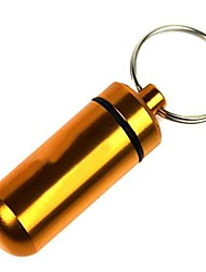 Creative Outdoor First Aid Pill Bottle Keychain (Color Random)