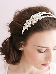 Women Two-coil Imitation Pearl Headbands/Flowers With Wedding/Party Headpiece
