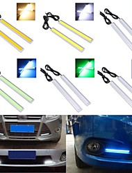 1Pair Daytime Running Lights 17cm Length Daylight COB Car LED DRL Day Time Lamp Waterproof White Shell