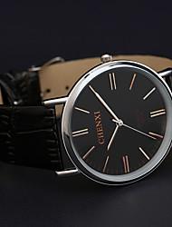 pulseira de couro Chenxi alto grau forma de quartzo relógio