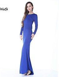 Women's Sexy Women Slim Long Sleeve Prom Ball Cocktail Formal Evening Gown Party Dress