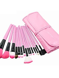 MAKE-UP FOR YOU 15PCS Professional Portable Makeup Brushes Set