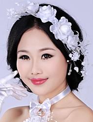 Luxurious Retro Pearl Rhinestones Flower Bridal Headpiece