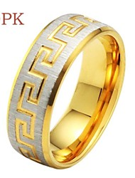 OPK®Great Wall of China Grain Titanium Rings