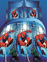 conjunto de capa de edredon, 3d realista quilt spider-man capas de edredão folha plana travesseiro sham queen size desenhos animados para crianças