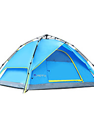 AOTU Outdoor  Three in one 3-4 Persons Waterproof Fold Tent Automatic Camping Tent Free Building