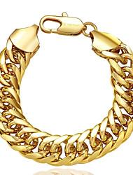 Original Decent  Women's Sideways  Gold Plated Brass Chain & Link Bracelet(Rose Gold,Golden)(1Pc)