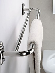 "24"" Stainless Steel Double Bars Towel Hanger Rack - Silver"