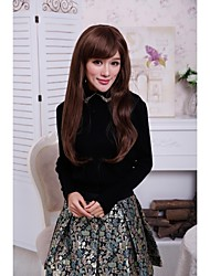 Fashionable Sweet Synthetic Hair Wig Long Straight Light Brown Hair