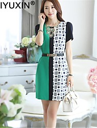 WEIYUXIN Women's Casual Print Short Sleeve Dress